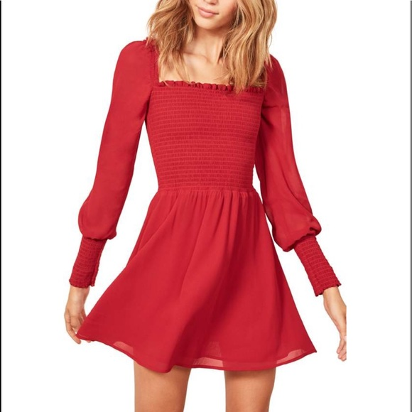 e930896ecd35 Reformation Dresses | Kelli Smocked Bodice Fit Flare | Poshmark